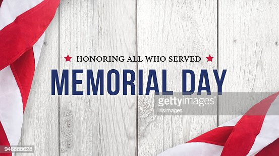 Memorial Day - Honoring All Who Served Text Over White Wood : Stock Photo