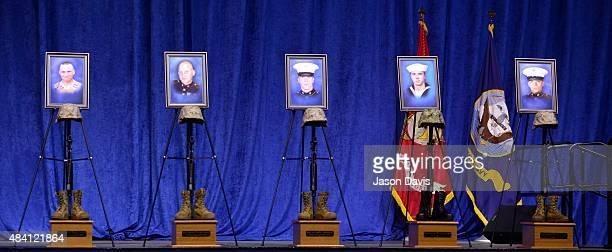 A memorial for Gunner Sergeant Thomas J Sullivan Staff Sergeant David A Wyatt Sergeant Carson A Holmquist United States Marine Corp Logistics...