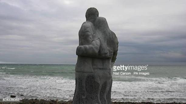 A memorial garden for those lost at sea in Kilmore Quay Ireland Monday February 6 2006 The lobster boat 'Rising Sun' which sank last November with...