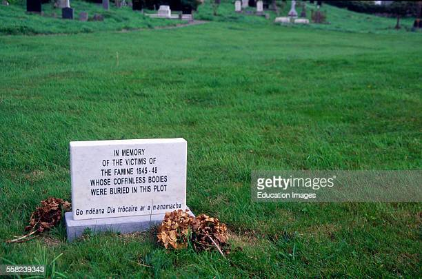 Memorial graveyard mass graves for the Irish Potato famine Abbeystrewry Cemetery Ireland