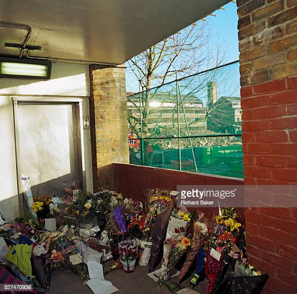 A memorial has been placed where murdered school boy Damilola Taylor died at Hordle Promenade North Peckham Estate London UK Were we to ignore this...