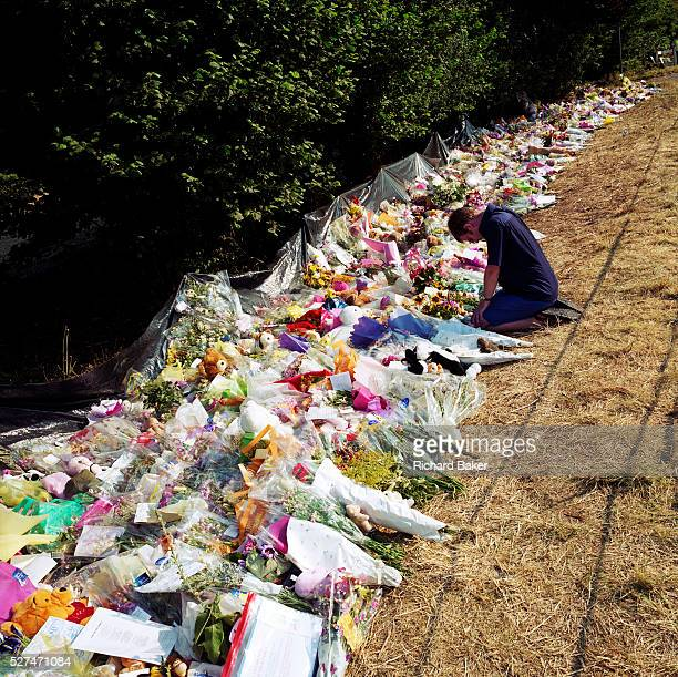 A memorial has been placed where 'Sarah' died near the A29 in Pulborough Sussex England UK Were we to ignore this place where someone's life ended...