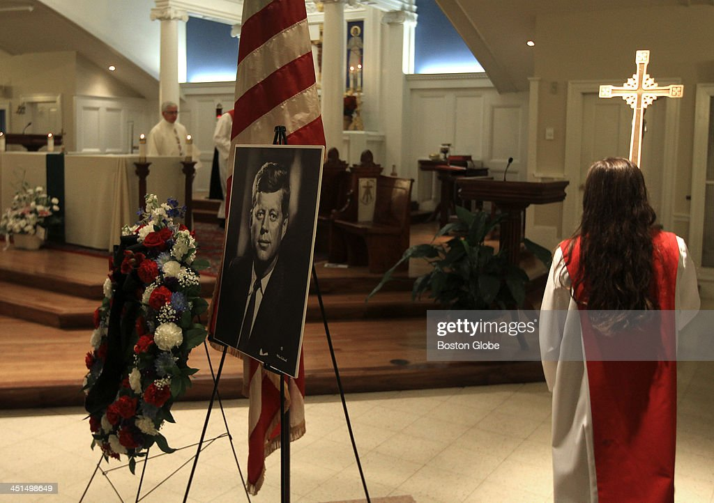 A memorial Mass at St. Frances Xavier Catholic Church in Hyannis, Mass. was held on November 22, 2013, 50 years after the assassination of President John F. Kennedy.