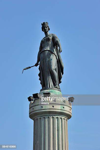 Memorial of the siege of 1792 / Column of the Goddess / La Deesse at the Grand Place in Lille France