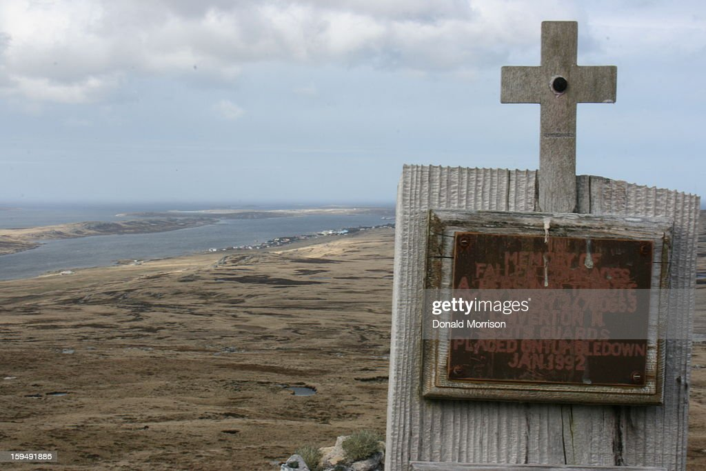 CONTENT] Memorial on Mt Tumbledown - scene of battle during the Falkland's War in 1982. Stanley can be seen in the background.