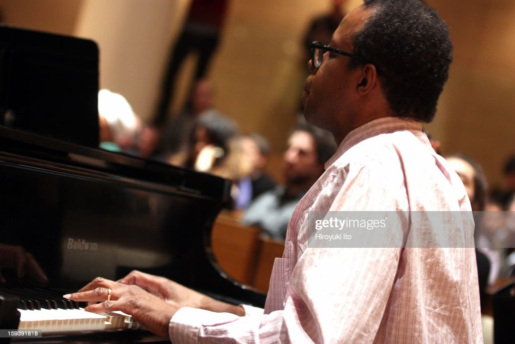 A memorial service for the tenor saxophonist David S. Ware at St. Peter's Church on Monday night, January 7, 2013.This image:Matthew Shipp.