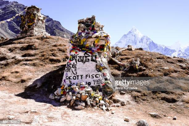 Memorial stupa for Scott Fischer outside the village of Dughla in the Solukhumbu District of Nepal