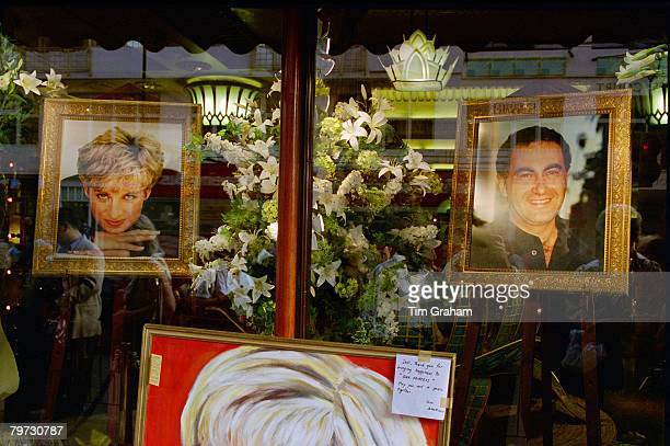 A memorial to Diana Princess of Wales and Dodi Fayed in Harrods