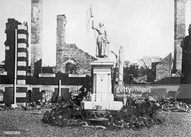 Memorial To The Glory Of The Saint In The Middle Of The Rubble Caused By An Earthquake