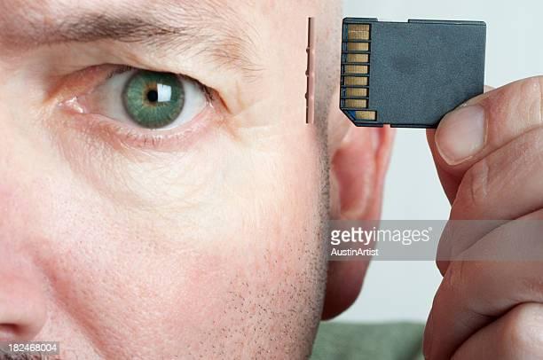 Cartão de memória cérebro