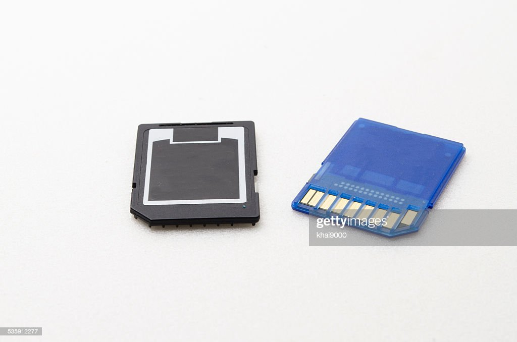 SD Memory Card with Black and blue colour : Stock Photo