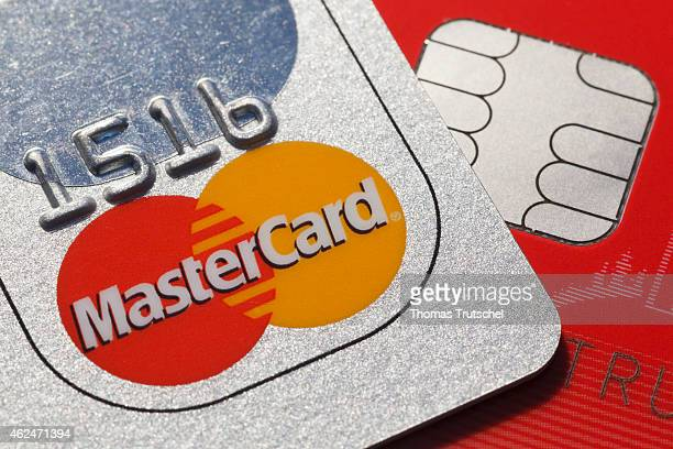 Memory chip on a credit card master card on December 10 2014 in Berlin Germany