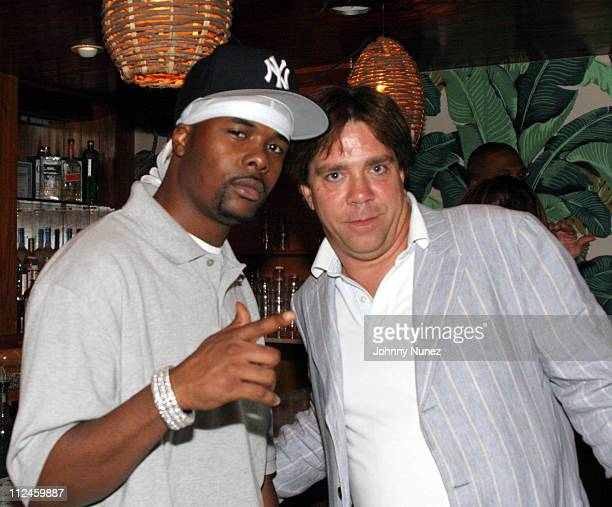Memphis Bleek and Andy Hilfiger during VIBE Vixen VIP Dinner August 10 2005 at Maritime Hotel in New York City New York United States