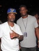 Memphis Bleek and Geno Smith attend D'USSE VIP Riser at On The Run Tour at Sunlife Stadium on June 25 2014 in Miami Florida