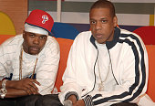 Memphis Bleek and JayZ during JayZ and Memphis Bleek Visit BET's '106 and Park' at BET Studios in New York City New York United States