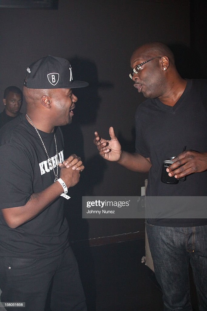 <a gi-track='captionPersonalityLinkClicked' href=/galleries/search?phrase=Memphis+Bleek&family=editorial&specificpeople=214174 ng-click='$event.stopPropagation()'>Memphis Bleek</a> and Michael Kyser attend the D'USSE cognac launch party at LIV nightclub at Fontainebleau Miami on December 9, 2012 in Miami Beach, Florida.