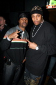 Memphis Bleek and Visanthe Shiancoe during Beanie Sigel's Birthday Party March 6 2007 at 4040 Club in New York City New York United States