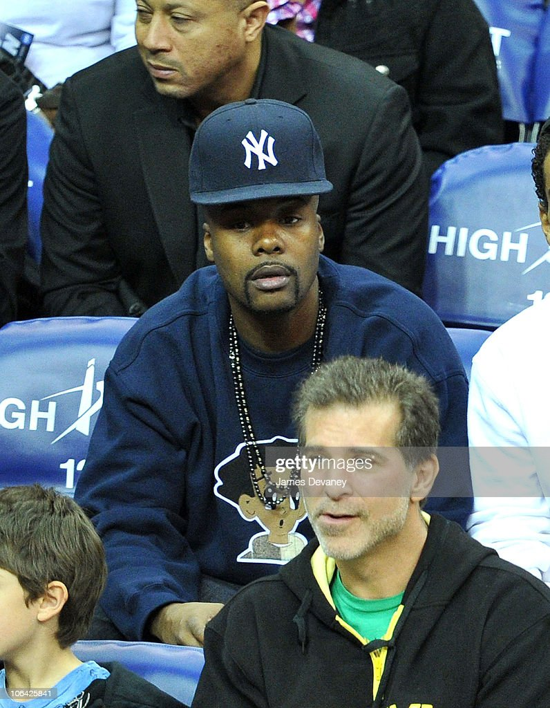 Memphis Bleek attends the Miami Heat vs NJ Nets Game at Prudential Center on October 31, 2010 in Newark City.