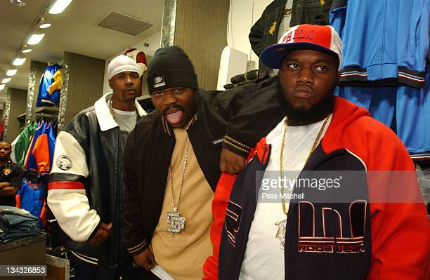 Memphis Bleek Beanie Sigel and Freeway promoting the State Property clothing line at an Up Against the Wall instore event