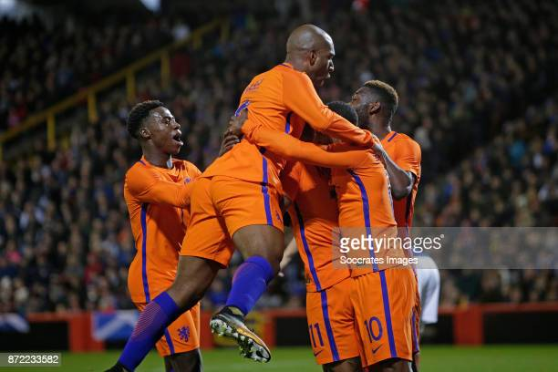 Memphis Depay of Holland celebrate 01 with Quincy Promes of Holland Ryan Babel of Holland Timothy Fosu Mensah of Holland Georginio Wijnaldum of...