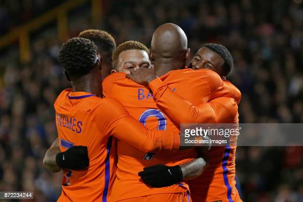 Memphis Depay of Holland celebrate 01 with Quincy Promes of Holland Ryan Babel of Holland Georginio Wijnaldum of Holland during the International...