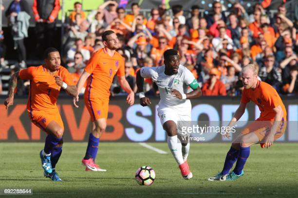 Memphis Depay of Holland Vincent Janssen of Holland Serge Aurier of Ivory Coast Davy Klaassen of Hollandduring the friendly match between The...