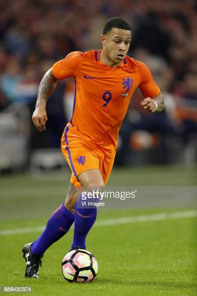 Memphis Depay of Hollandduring the friendly match between Netherlands and Italy at the Amsterdam Arena on March 28 2017 in Amsterdam The Netherlands