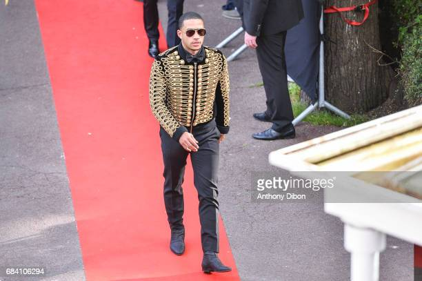 Memphis Depay of Lyon during the ceremony for the UNFP Trophy Awards on May 15 2017 in Paris France