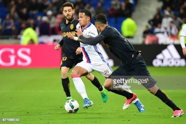 Memphis Depay of Lyon during the Ligue 1 match between Olympique Lyonnais and AS Monaco at Stade des Lumieres on April 23 2017 in DecinesCharpieu...