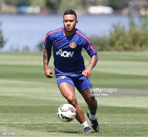 Memphis Depay of Manchester United in action during a first team training session as part of their preseason tour of the USA at VMAC on July 15 2015...