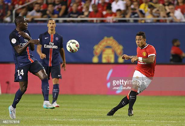 Memphis Depay of Manchester United in action during the International Champions Cup 2015 game between Manchester United and Paris SaintGermain at...