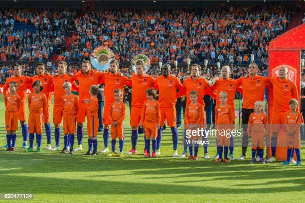 Memphis Depay of The Netherlands Kenny Tete of The Netherlands Joel Veltman of The Netherlands Kevin Strootman of The Netherlands Davy Propper of The...