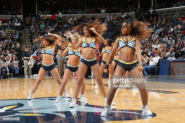 Memphis Grizzlies dancers perform during the game on November 15 2014 at FedExForum in Memphis Tennessee NOTE TO USER User expressly acknowledges and...