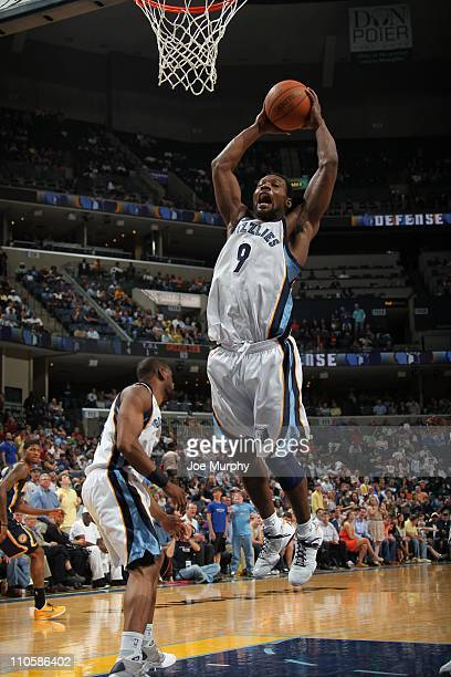 Memphis Grizzlies shooting guard Tony Allen goes to the basket during the game against the Indiana Pacers on March 19 2011 at FedExForum in Memphis...