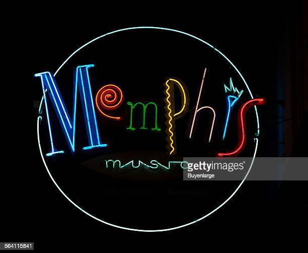 Memphis Music neon sign Beale Street Memphis Tennessee