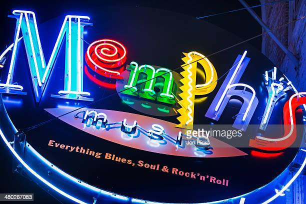 Memphis neon sign on Beale Street