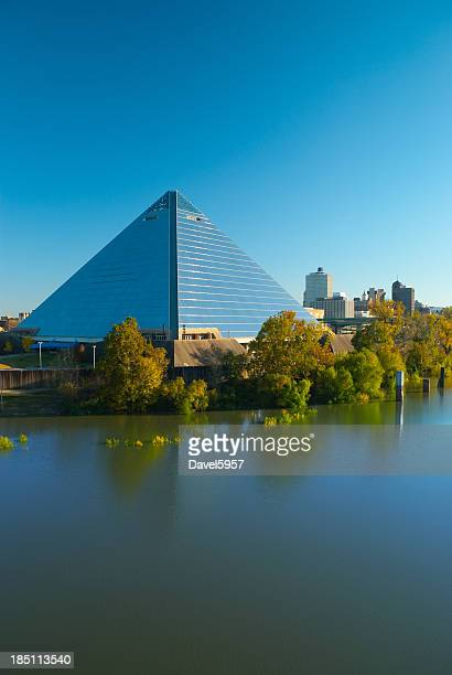 Memphis pyramid and skyline