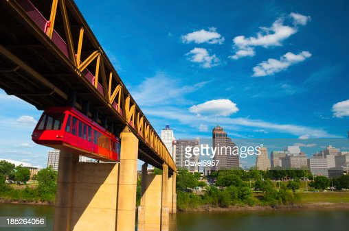 Memphis skyline and tram