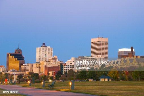 Memphis skyline at sunset