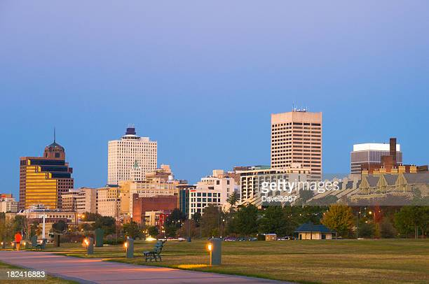 Memphis skyline at sunset
