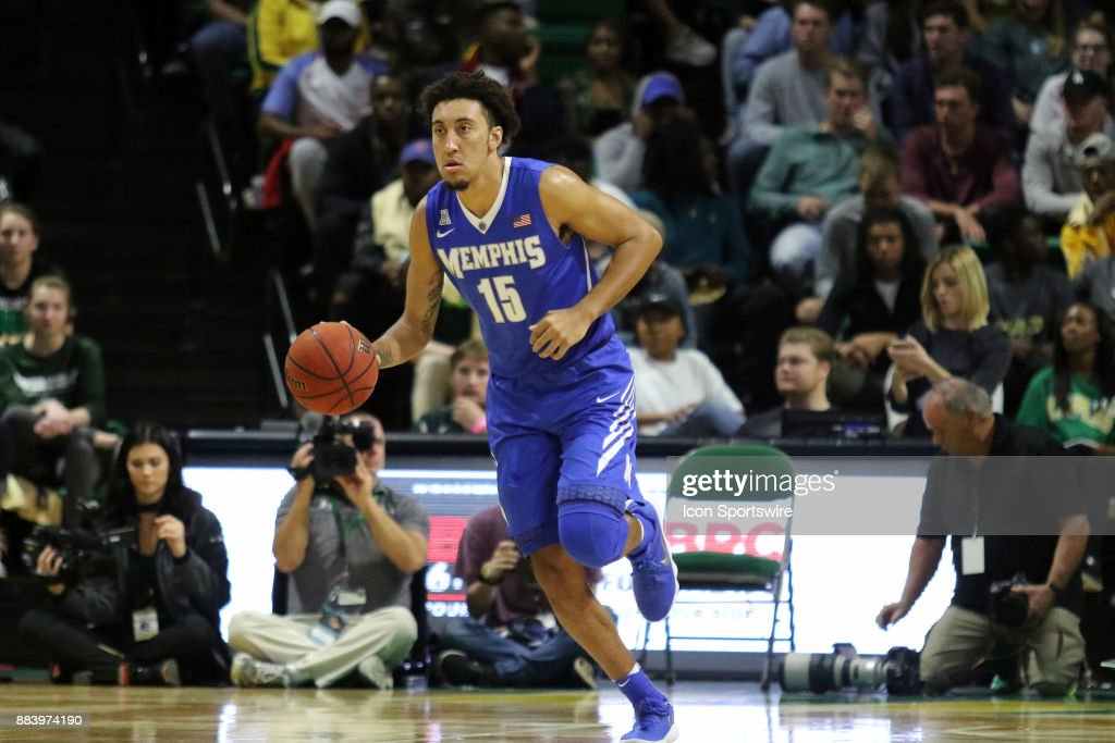 Memphis Tigers guard David Nickelberry (15) during the game between the Memphis Tigers and the UAB Blazers on November 30, 2017 at Bartow Arena in Birmingham, Alabama.