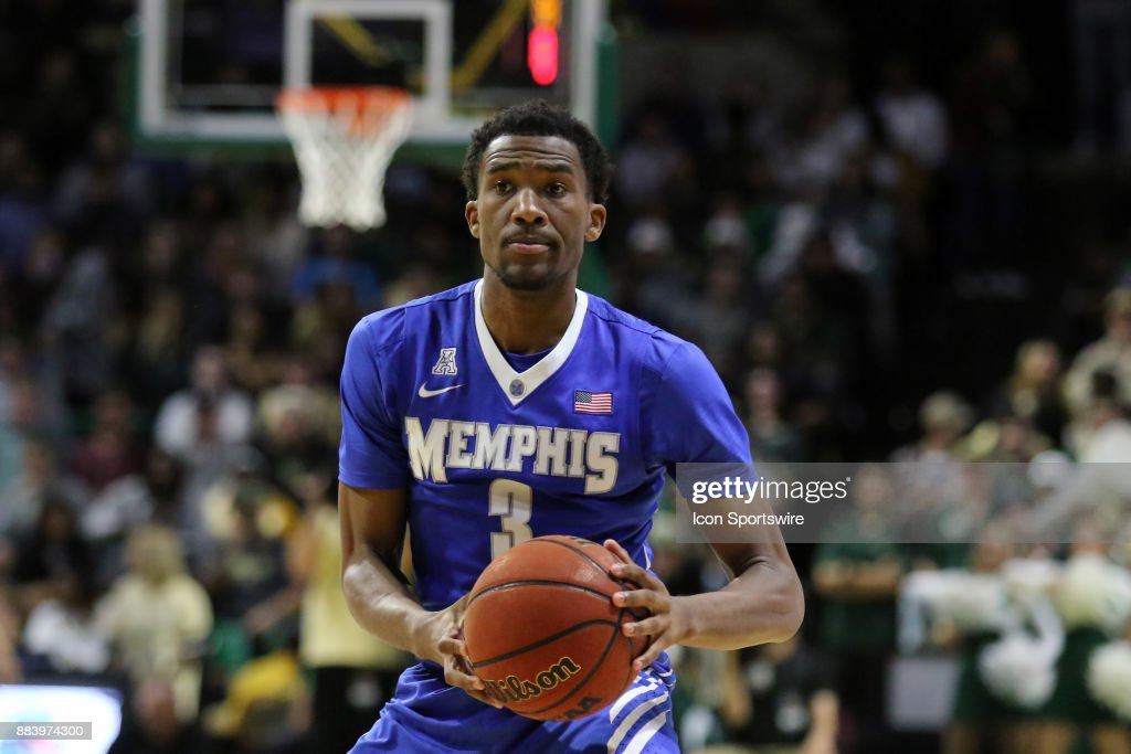 Memphis Tigers guard Jeremiah Martin (3) during the game between the Memphis Tigers and the UAB Blazers on November 30, 2017 at Bartow Arena in Birmingham, Alabama.