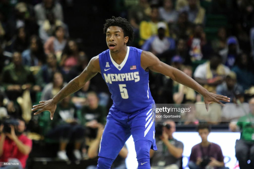 Memphis Tigers guard Kareem Brewton Jr. (5) during the game between the Memphis Tigers and the UAB Blazers on November 30, 2017 at Bartow Arena in Birmingham, Alabama.