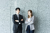 It is Men and women to be his arms folded (business image)