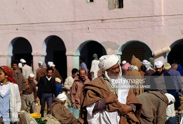 Men at the market in Ghardaia Algeria