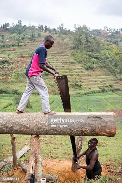 Men at work, Lake Kivu, Rwanda