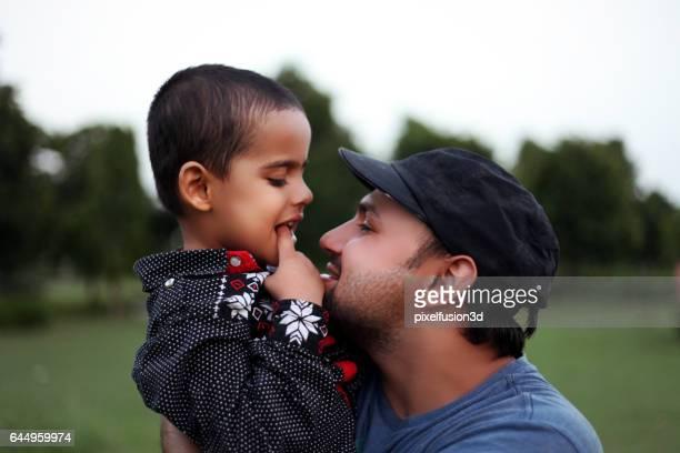 Men & child portrait