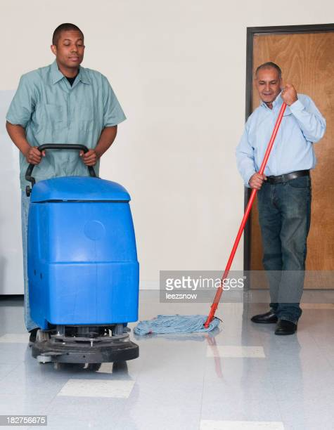 Men Cleaning an Office - Janitorial Services Series