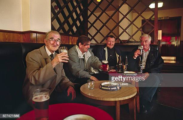 Men Drinking Beer and Ales in a Glasgow Pub