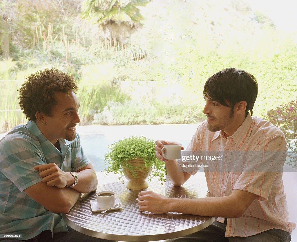 Men drinking coffee : Stock Photo